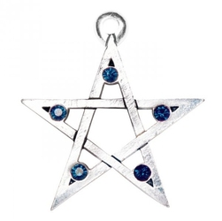 Open pentagram, seria: pentagramy - naszyjnik