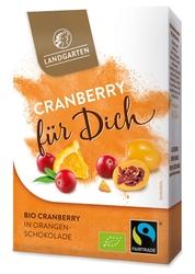 Landgarten | suszona żurawina w pomarańczowej czekoladzie 90g | gluten free - organic - fairtrade