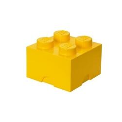 Pojemnik w kształcie klocka lego 4 - żółty