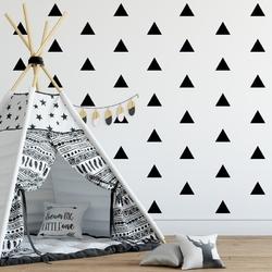 Naklejki ścienne - trójkąty 25szt. w zestawie , kolor - brązowy, wymiary - szer. 8cm x wys. 8cm