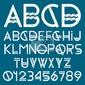 Plakat font papier i numery