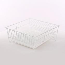 Suszarka do naczyń  zlewozmywakowa kwadratowa 32 cm biała z tacką