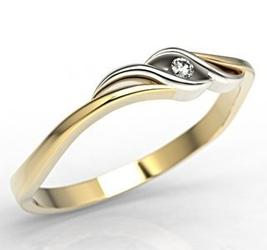 Pierścionek z żółtego i białego złota z cyrkoniami lp-9306zb - wysyłka w następny dzień roboczy - sprawdź dostępność