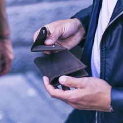 Skórzany zestaw portfel i bilonówka brodrene sw07 + cw01 ciemnobrązowy - c. brązowy