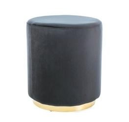 Puf welurowy frida czarno-złoty