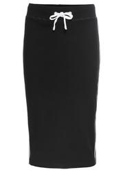 Spódnica dresowa z połyskującymi paskami bonprix czarny