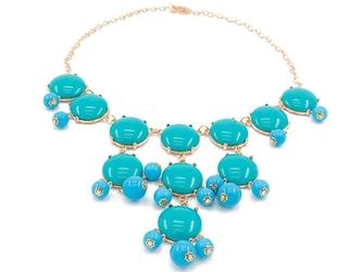 Naszyjnik kolia niebieskie kamienie duża - niebieski