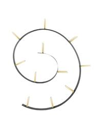 Półka Popworm czarno-złota 11 półek