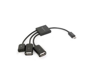 Gembird Kabel OTG USB Micro BM - 2xUSB-AF+Micro BF 13cm