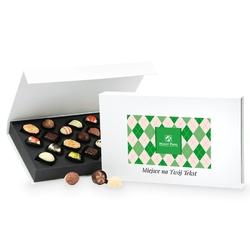Czekoladki z okazji dnia dziadka chocolate box white z twoimi życzeniami