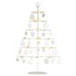 Drzewko metaliczne białe 25 led ciepły biały 42 cm licznik czasu akumulator