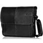Stylowa torba męska na ramię casual solier s15 czarna - czarny