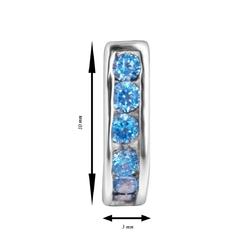 Srebrne kolczyki pr 925 cyrkonia jasnoniebieska prezent