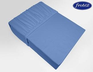 Prześcieradło jersey z gumką Frotex niebieskie 011 - niebieski
