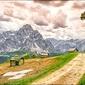 Górskie chatki – plakat wymiar do wyboru: 60x40 cm