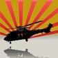 Obraz na płótnie canvas dwuczęściowy dyptyk śmigłowiec ratowniczy superpuma