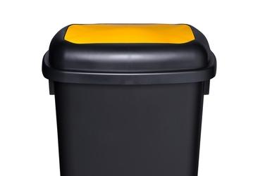 Plafor kosz qautro 90l segregacja żółty