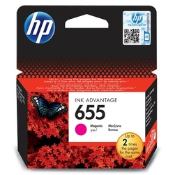 HP oryginalny ink blistr, CZ111AE302, No.655, magenta, 600s, HP Deskjet Ink Advantage 3525, 5525, 6525, 4615 e-AiO