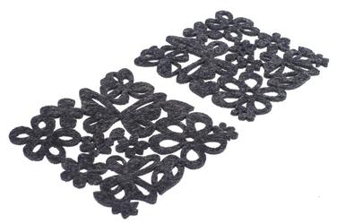 Podkładki filcowe 12x12 cm czarne kpl 2 szt.