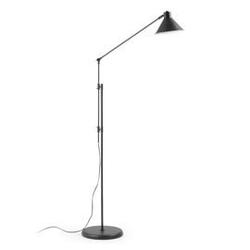 Metalowa lampa podłogowa odine czarna