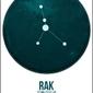 Znak zodiaku, rak - plakat wymiar do wyboru: 60x80 cm