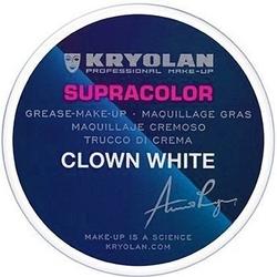Kryolan supracolor clown white, farba do malowania twarzy 30g