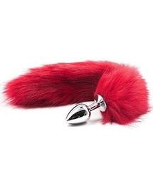 Long fox tail anal plug red