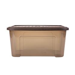 Pojemnik  organizer do przechowywania modułowy tontarelli combi box z pokrywką arianna brązowy 13 l