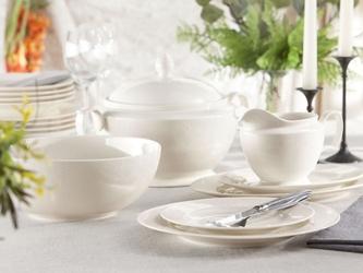 Zestaw obiadowy dla 6 osób porcelana mariapaula ecru queen 24 elementy