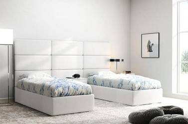 Białe panele tapicerowane italia 50cm x 30cm zagłowie