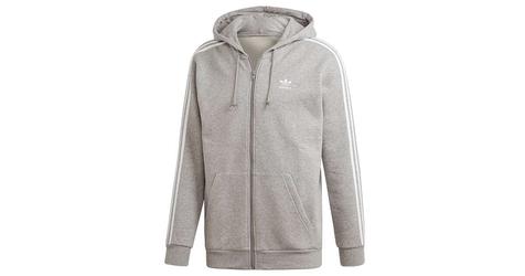 Adidas 3-stripes hoodie ed5969 s szary