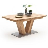 Drewniany dębowy rozkładany stół managua b  dąb bianco, 140-220 x 90 cm