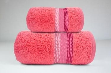 OMBRE KORAL ręcznik bawełniany FROTEX - koralowy