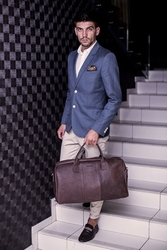 Skórzana torba podróżna brodrene bl10 ciemnobrązowa - c. brązowy