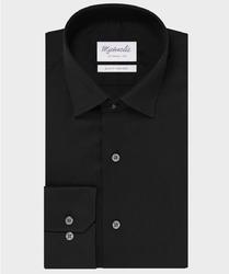 Elegancka czarna koszula michaelis z kołnierzem klasycznym 44