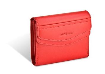 Damski portfel valentini black  red diamond 503 - czerwony