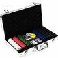 Poker nominały żetonów 300 sztuk zestaw do pokera z walizką