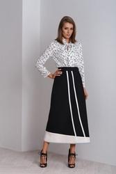 Asymetryczna czarna długa spódnica nella