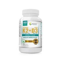 Wish pharmaceutical vitamin k2 mk-7 100mcg + d3 50mcg forte 120tabs