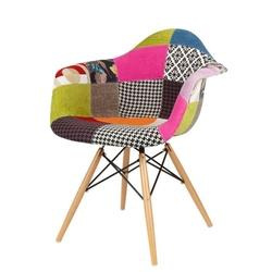 Nowoczesny fotel kr012f patchwork 1 buk