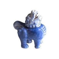 Majolika nieborów :: figurka pies fo kadzidłowiec na kadzidła stożkowe wys. 14 cm