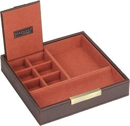 Pudełko na spinki i zegarki stackers pojedyncze brązowo-pomarańczowe