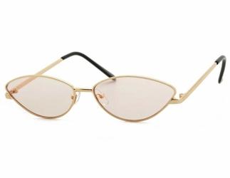 Okulary damskie kocie oczy przeciwsłoneczne  wąskie szybkie  std-67