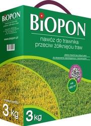 Biopon, nawóz granulowany do trawnika przeciw żółknięciu, 3kg