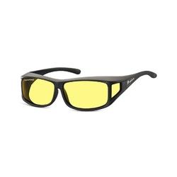 Żółte okulary z polaryzacją hd fit over dla kierowców, nakładane na korekcyjne fo5f