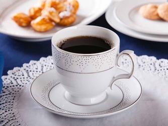 Filiżanka do cappuccino ze spodkiem porcelana mariapaula snow 350 ml, opakowanie prezentowe