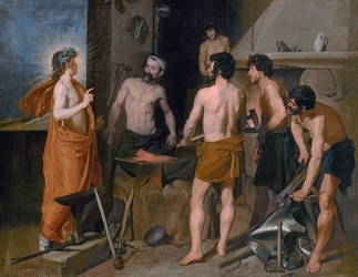 Reprodukcja apollo in the forge of vulcan, diego velazquez