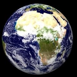 Obraz na płótnie canvas dwuczęściowy dyptyk 3d ziemia