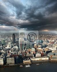 Obraz nowoczesna londyn pejzaż z rzeką, anglia