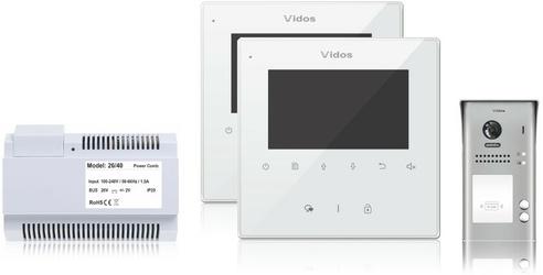 Wideodomofon 2-rodzinny VIDOS DUO 2 x M1022W  S1102A - Szybka dostawa lub możliwość odbioru w 39 miastach